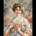 """Набор для вышивания """"Девушка с розами"""" """"Luca-S"""""""