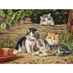 """Набор для вышивания """"Кошки"""" """"Luca-S"""""""