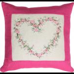 """Набор для вышивания Подушка """"Сердце из роз"""" """"Luca-S"""""""