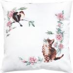 """Набор для вышивания Подушка """"Котёнок и птицы"""" """"Luca-S"""""""
