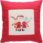 """Набор для вышивания Подушка """"Дед Мороз, Оленёнок и снеговик"""" """"Luca-S"""""""