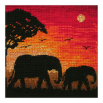 """Набор для вышивания """"Силуэты слонов"""" """"Maia"""""""
