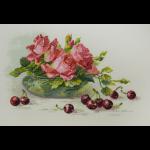 """Набор для вышивания """"Розы и черешня"""" """"Марья Искусница"""""""