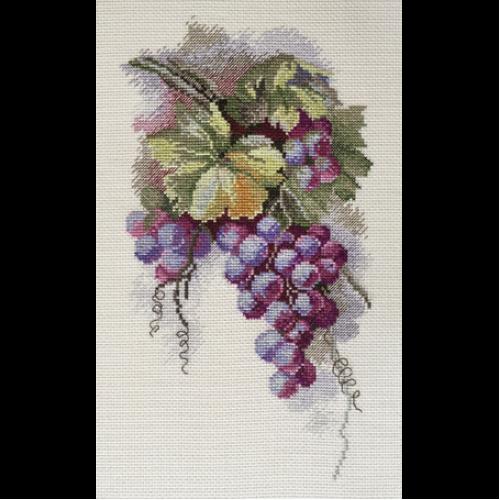 Набор для вышивки крестом виноград 407