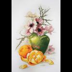 """Набор для вышивания """"Анемоны и апельсины"""" """"Марья Искусница"""""""