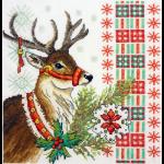 """Набор для вышивания """"Новогодний олень"""" """"Марья Искусница"""""""