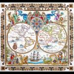 """Набор для вышивания """"Карта мира"""" """"Марья Искусница"""""""