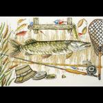 """Набор для вышивания """"Время ловить рыбу"""" """"Марья Искусница"""""""