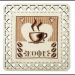 """Набор для вышивания """"Кофейный стиль"""" с пришивной рамкой """"Марья Искусница"""""""