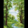 """Канва с рисунком """"Лесной ручей"""" """"Матренин Посад"""""""