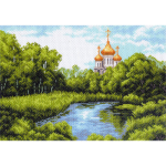 """Канва с рисунком """"Тихая заводь"""" """"Матренин Посад"""""""