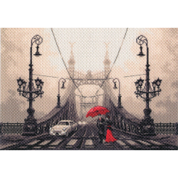 """Канва с рисунком """"Туманный вечер в Будапеште"""" """"Матренин Посад"""""""