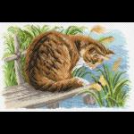 """Канва с рисунком """"Любопытный котёнок"""" """"Матренин Посад"""""""