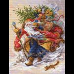 "Канва с рисунком ""Дед Мороз"" ""Матренин Посад"""