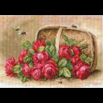 """Канва с рисунком """"Знойные розы"""" """"Матренин Посад"""""""