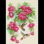 """Набор для вышивания """"Розы и колибри"""" """"Матренин Посад"""""""