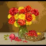"""Набор для вышивания """"Огненные розы"""" """"Матренин Посад"""""""