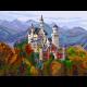 """Канва с рисунком """"Замок в Баварии"""" """"Матренин Посад"""""""