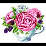 """Канва с рисунком """"Ежевика в чашке"""" """"Матренин Посад"""""""