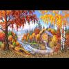 """Рисунок на шелке для вышивания бисером """"Осень"""" """"Матренин Посад"""""""