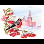 """Рисунок на шелке для вышивания бисером """"Московская зима"""" """"Матренин Посад"""""""