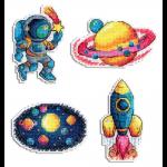 """Набор для вышивания """"Магниты. Космос"""" """"МП Студия"""""""