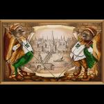 """Ткань с рисунком для вышивания бисером """"Великий город"""" """"Нова Слобода"""""""