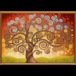 """Ткань с рисунком для вышивания бисером """"Дерево счастья"""" """"Нова Слобода"""""""