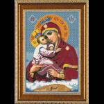 """Ткань с рисунком для вышивания бисером """"Богородица Почаевская"""" """"Нова Слобода"""""""