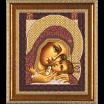 """Ткань с рисунком для вышивания бисером """"Богородица Корсунская"""" """"Нова Слобода"""""""
