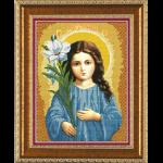 """Ткань с рисунком для вышивания бисером """"Богородица «Трилетствующая»"""" """"Нова Слобода"""""""