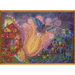 """Ткань с рисунком для вышивания бисером """"Пламенный цветок"""" """"Нова Слобода"""""""