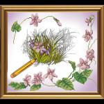 """Ткань с рисунком для вышивания бисером """"Рисунок"""" """"Нова Слобода"""""""