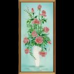 """Ткань с рисунком для вышивания бисером """"Амфора. Букет роз"""" """"Нова Слобода"""""""