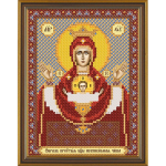 """Ткань с рисунком для вышивания бисером """"Богородица «Неупиваемая чаша»"""" """"Нова Слобода"""""""