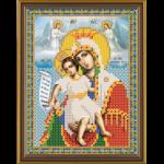 """Ткань с рисунком для вышивания бисером """"Богородица Достойно есть"""" """"Нова Слобода"""""""