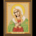 """Ткань с рисунком для вышивания бисером """"Богородица Умиление"""" """"Нова Слобода"""""""