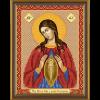 """Ткань с рисунком для вышивания бисером """"Богородица «Помощница в родах»"""" """"Нова Слобода"""""""