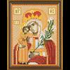 """Ткань с рисунком для вышивания бисером """"Богородица «Неувядаемый цвет»"""" """"Нова Слобода"""""""