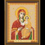 """Ткань с рисунком для вышивания бисером """"Богородица Смоленская"""" """"Нова Слобода"""""""
