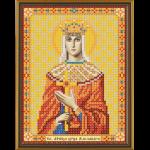 """Ткань с рисунком для вышивания бисером """"Св. Мц. Царица Александра Римская"""" """"Нова Слобода"""""""