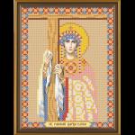 """Ткань с рисунком для вышивания бисером """"Св. Равноап. Царица Елена"""" """"Нова Слобода"""""""