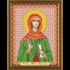 """Ткань с рисунком для вышивания бисером """"Св. Мц. Зинаида Тарсийская"""" """"Нова Слобода"""""""