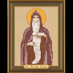 """Ткань с рисунком для вышивания бисером """"Св. Прп. Антоний Великий"""" """"Нова Слобода"""""""