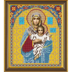 """Ткань с рисунком для вышивания бисером """"Богородица Леушинская"""" """"Нова Слобода"""""""