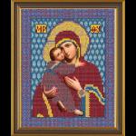"""Ткань с рисунком для вышивания бисером """"Богородица Владимирская"""" """"Нова Слобода"""""""