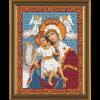 """Ткань с рисунком для вышивания бисером """"Богородица «Достойно Есть»"""" """"Нова Слобода"""""""