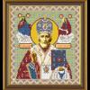 """Ткань с рисунком для вышивания бисером """"Св. Николай Чудотворец"""" """"Нова Слобода"""""""