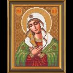 """Ткань с рисунком для вышивания бисером """"Богородица «Умиление»"""" """"Нова Слобода"""""""