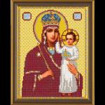 """Ткань с рисунком для вышивания бисером """"Богородица «Призри на смирение»"""" """"Нова Слобода"""""""